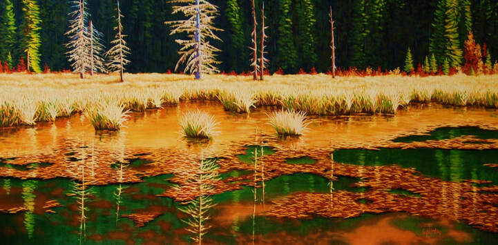 Gary Whitley paintings - landscape, floral, and commissions